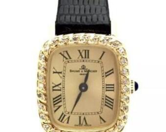 Ladies Baume & Mercier 18K Yellow Gold Watch