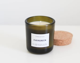 EVERGREEN - 8 oz Soy Candle - Hand-Poured - Candlefolk