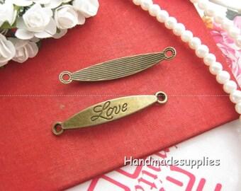 Set of 5 charms for bracelet LOVE bronze (Cgaoe)