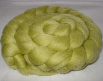 Merino wool roving, roving wool, spinning fiber, felting wool, 20 micron, wool for felting, dreads, dolls hair, SAGE GREEN,3.5oz, 100g