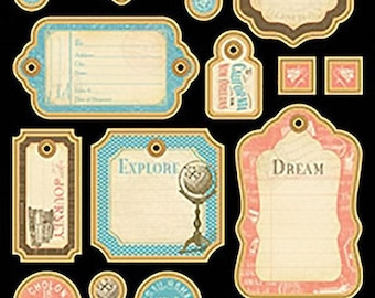 Graphic 45 Come Away with Me Chipboard 1