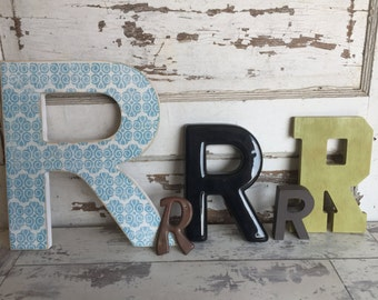 Vintage Letter R - Collection - Wood, Plastic, Copper, Choice - Large Medium, Small
