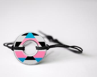 Transgender Ally Washer Bracelet
