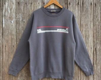 Vintage 90's GOTCHA Survival Wear For The New Age Biglogo Surfwear Sweatshirt Pullover Jumper Medium Size lkOWEVfo