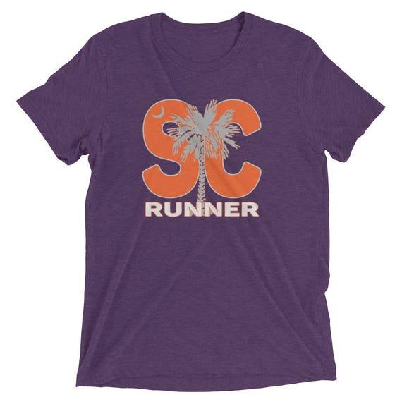 Men's South Carolina Runner Triblend T-Shirt - Orange - Run South Carolina - Men's South Carolina Running Shirt