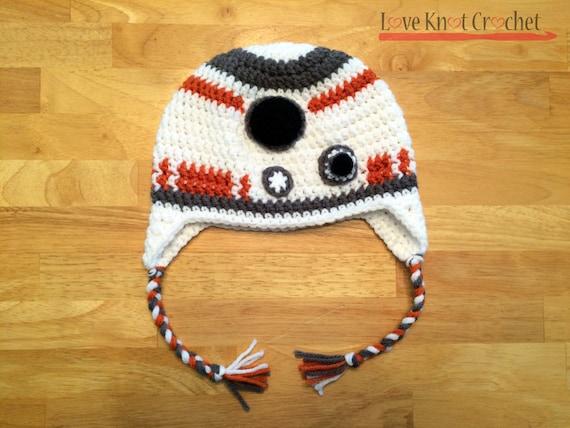 Star Wars Bb 8 Inspired Crochet Hat Pattern From Loveknotcrochet On