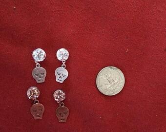 Metallic skull earrings! SHIPS IMMEDIATELY from USA!