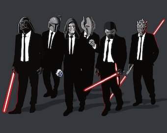Galaxy Dogs T-shirt / Star Wars T-shirt  / Reservoir Dogs / Tarantino / Darth Vader, Boba Fett, Emperor.../   Free Shipping worldwide