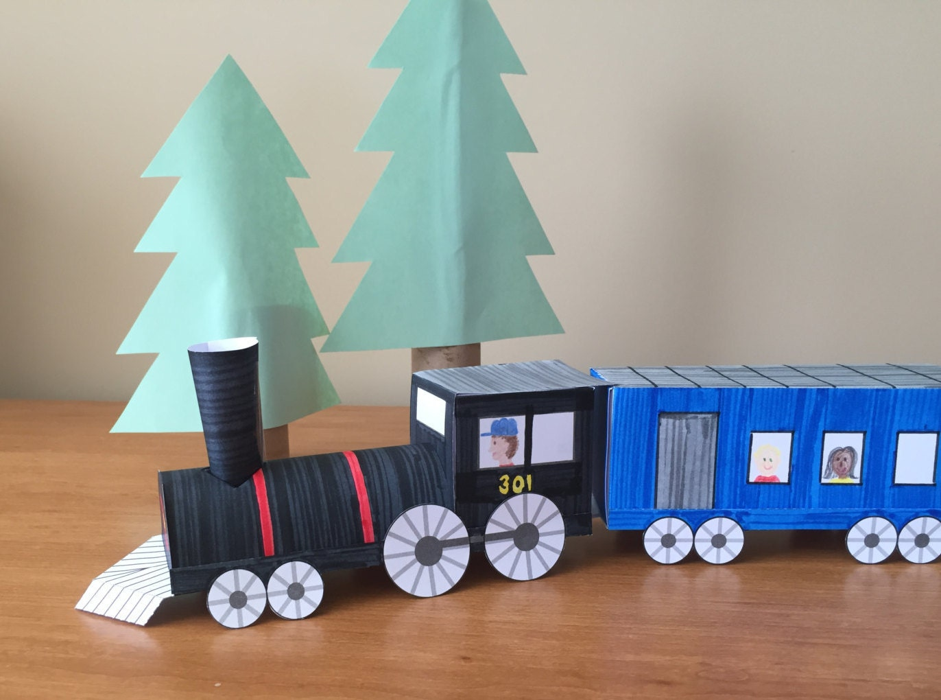 3d Paper Train Instant Download Template From Fanfaron On