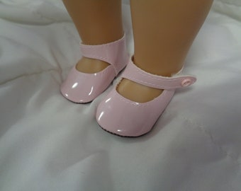 "Pink Patent Leather Mary Jane Doll Shoes for 18"" Dolls- Fits American Girl Dolls"