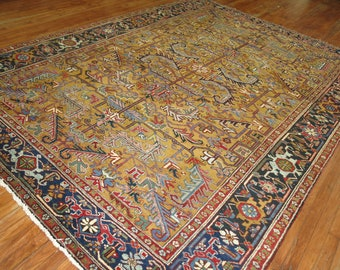 Antique Persian Heriz Rug Size 7'10''x10'10''