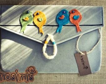 4 Birds Clutch Bag