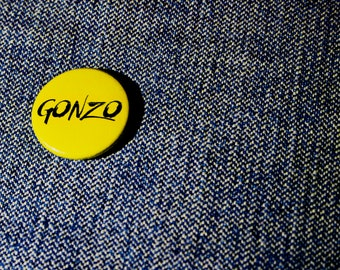 Gonzo - Handmade Button Badge - Hunter S. Thompson