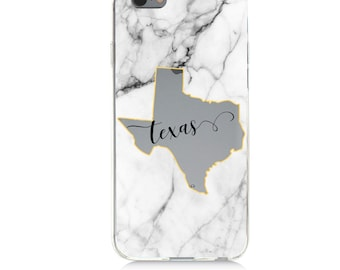 iPhone - Samsung Galaxy - TPU Soft Rubber Cell Phone Case - Texas - High quality Soft Silicon -Designed and Printed in USA