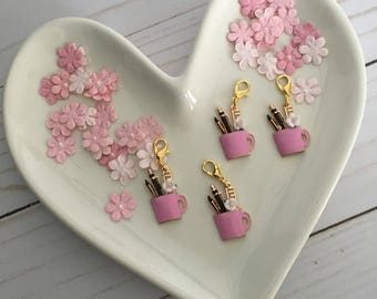Planner Cup Charm- Dusty Rose