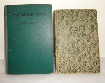 2 Different Bobbsey Twin Books, Bobbsey Twins Merry Days 1945 1st Edition & In the Mystery Cave 1960