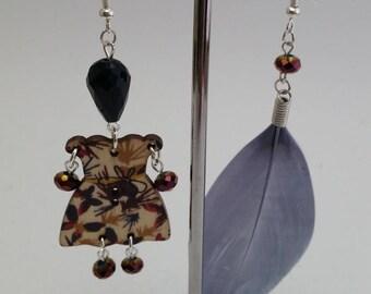 "Earrings ""Sundry Molds""-Feather-Doll powder blue 2"
