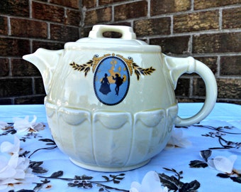 """Vintage Drip O Lator Coffee Pot by Hall and Enterprise Aluminum, """"MINUET"""" Teapot, 6 Cup, 48 Ounce, Circa 1940s"""