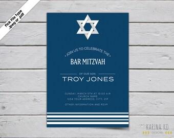 Bar Mitzvah 5x7 Invitation