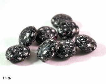 Polymer Clay Beads, Polymer Beads, Beads for Sale, Loose Beads, Clay Beads, Handmade Beads, Fimo Beads, Beading Supply, Lentil Beads