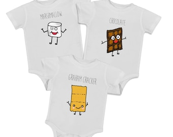 BFF Bodysuits, SMORES, baby onepiece, newborn bodysuit, BFF, best friends, babies, funny rompers
