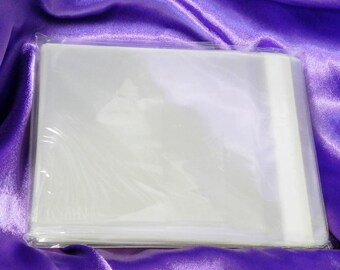 Transparent sleeve etsy clear greeting card envelope crystal clear envelope protective sleeve clear cello bag for 5 square cards pack of 100 5 34 x 7 m4hsunfo