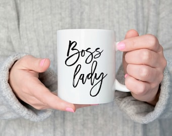 Boss Lady Coffee Mug, Boss Lady Mug, Boss Girl Mug, Gift For Boss, Gift Female Boss, Gift Girlfriend, Entrepreneur Mug, Gift Entrepreneur
