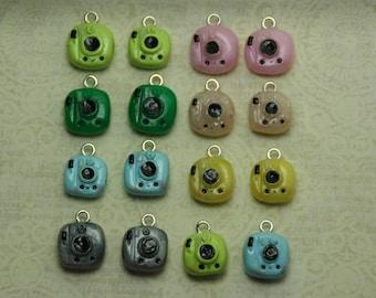 Handmade Polymer Clay Miniature Camera Kawaii Charms - So Cute!