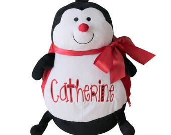 Personalized Ladybug Stuffed Animal, Custom Name Baby Gift