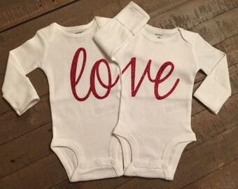 Twins 'Love' Body Suit Set