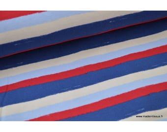 Jersey imprimé rayures marines .x1m