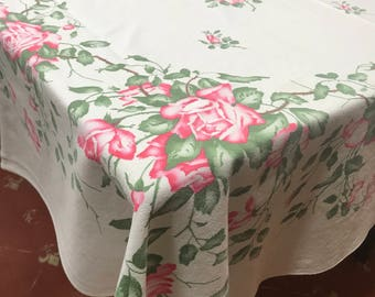 Vintage Rose Table Cloth