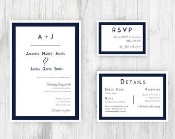 Classic Printable Wedding Invitation