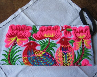 Hand embroidered, ethnic clutch