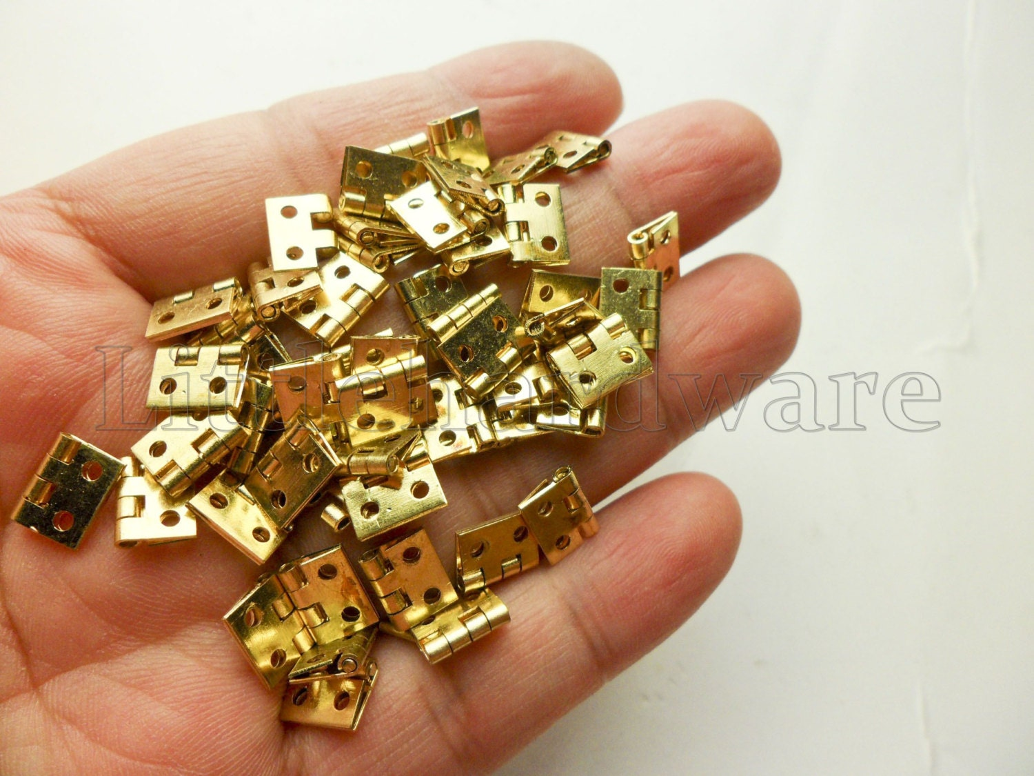 20 pcs 8mmX10mm brass made mini classic butt hinges parliament
