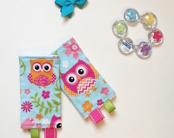 Drool Pads - Lillebaby Beco Ergo Tula SSC Baby Carriers - Chevron Owls