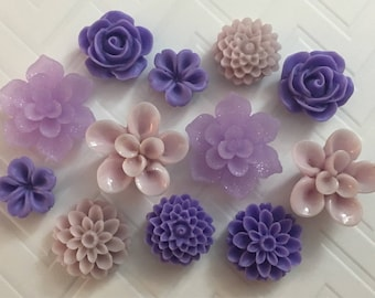 Flower Magnets Set of 12 - (#LE5) dorm decor, hostess gift, weddings, bridal shower, baby shower, gift, teacher gift