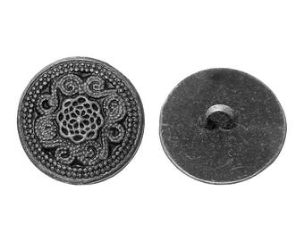 20 buttons, metal, vintage style, antique-style 20mm