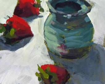 Honey Pot and Strawberries