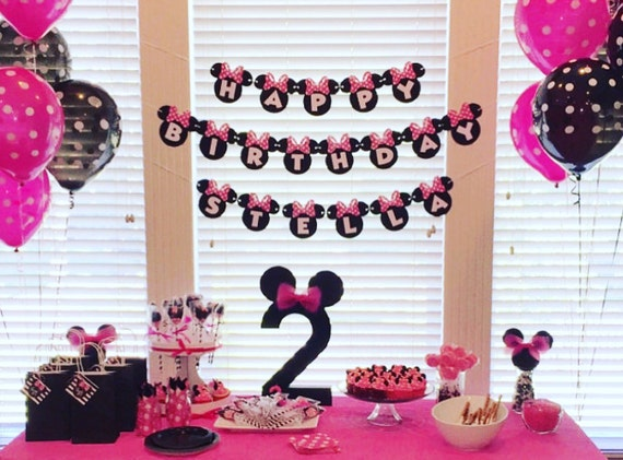 Minnie Mouse Birthday Banner Minnie Mouse 1st Birthday Party