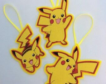 New Pikachu Ornaments-Set of 3