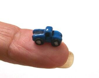 Brillant bleu Ford camion-jouet camion, Artisan maison de poupée Miniature, Unique, garçon, 01:12 échelle, Mini Sculpture