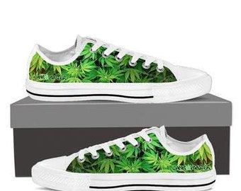 Dank Master men's shoes custom cannabis design weed leaf low top sneakers