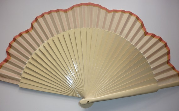 WEDDING Bridesmaid Cream Alternative Bouquet SIZE OPTIONS Any Color Handheld Folding Fan Made to order