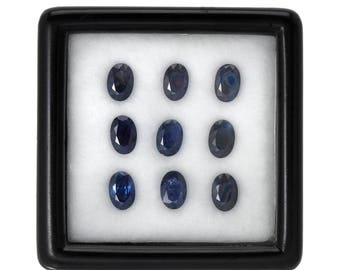 5.0 Carats 6x4mm Natural Sapphire Lot. Blue Color And Oval Cut.