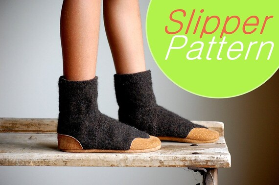 Wool Slipper Pattern, PDF Sewing Pattern, Kids sizes, Instant ...