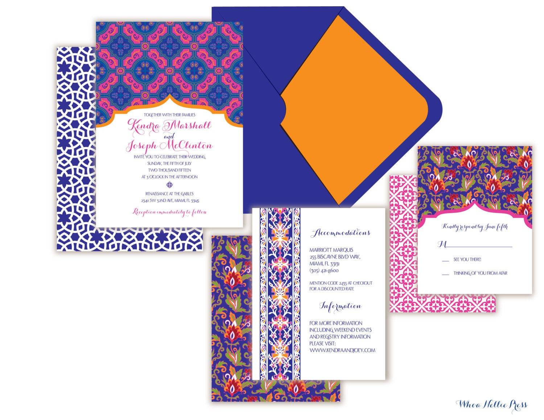 Mexican Wedding Invitation Talavera Tile order custom invitations
