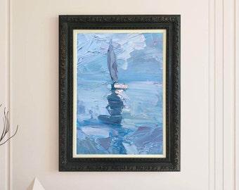 Sailing Art Sailing Painting Oil Canvas Art Ocean Art Nautical Decor Abstract Art Sailing Home Decor Sailing Gifts For Men Gifts for Husband