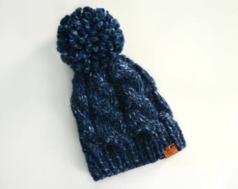 Made to Order: Cable Knit Beanie with Pom Pom