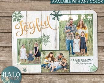 Rustic Joyful - Christmas Cards